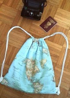 Kup mój przedmiot na #vintedpl http://www.vinted.pl/damskie-torby/plecaki/15154220-plecak-worek-mapa-vintage-retro   retro backpack