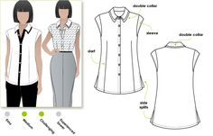 Liberty of london:  Tara Top Sewing Pattern By Style Arc