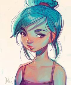 This is a quick digital painting I drew during a live drawing session at FACTS two weeks ago! The idea was to show how I create a color palette for skintones when I paint digitally. It was surprisingly fun to do! Any tips for future sessions? Cartoon Kunst, Cartoon Art, Art Sketches, Art Drawings, Game Design, Loish, Art Sketchbook, Sketchbook Inspiration, Photo Instagram
