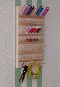 New sewing room organization quilting diy ideas Thread Storage, Sewing Room Storage, Sewing Room Organization, Craft Room Storage, My Sewing Room, Sewing Rooms, Diy Home Crafts, Sewing Crafts, Sewing Room Design