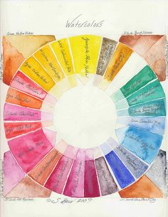Watercolors by shellyinseattle, via Flickr
