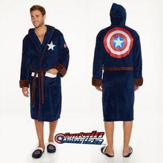 Peignoir Captain America Marvel. Kas Design, Distributeurs de produits originaux.