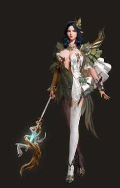 ArtStation - Elf wizard, hyeri park Fantasy Art Women, Beautiful Fantasy Art, Fantasy Girl, Female Character Design, Character Art, Fantasy Characters, Female Characters, Fictional Characters, Female Wizard