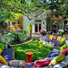 Photos Hub: A Beautiful Backyard Full of Color in every way! Fun!!!