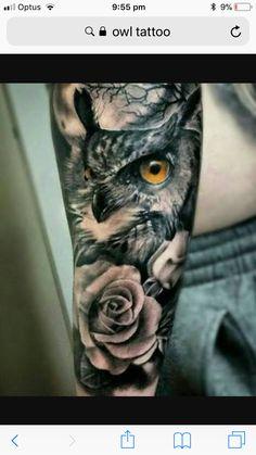 Owl an moon tatto men arm - Tattoo on the arm man # arm - Owl an moon tatto men arm – Tattoo on the arm man - Eagle Tattoos, Wolf Tattoos, Forearm Tattoos, Animal Tattoos, Body Art Tattoos, Sleeve Tattoos, Tatoos, Tattoo Ribs, Arm Tattoos For Guys
