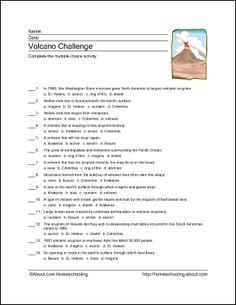 Primary homework help volcano types