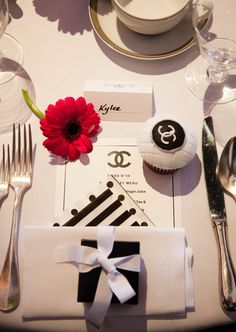 Chanel party Chanel cupcakes