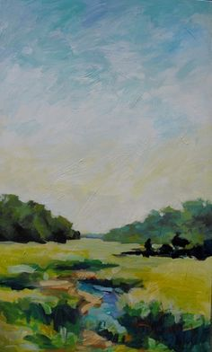 Landscape Art, Landscape Paintings, Watercolor Paintings Nature, Acrylic Painting Inspiration, Country Art, Low Country, Art Archive, Coastal Art, Pictures To Paint