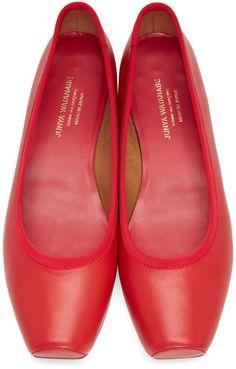 Junya Watanabe - Red Square Ballerina Flats