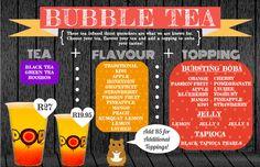Bubble Tea Menu, NEW!