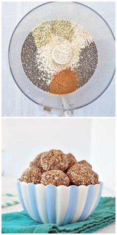 Healthy and easy protein packed energy bites. The best pre or post workout snack! No bake, vegan and gluten free. Has Quinoa & Chia seed