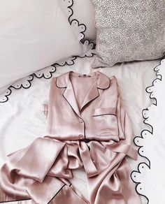 Pajamas: rose gold, pink, satin, girly, pretty, sleepware, silk, rose - Wheretoget