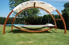 covered hammock/bed.  Love it.