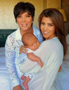 Kris Jenner, Kourtney Kardashian and Penelope Disick.