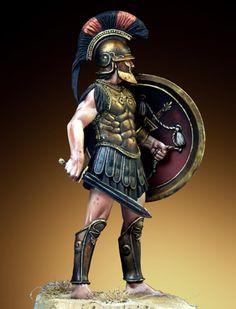 "Greek ""Siceliota"" (Sicilian) Hoplite - V Century B.C. with a Thracian style helmet."