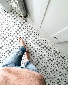 Lovely Vintage Tiles Bathroom Best Vintage Tile Floor Ideas On Vintage Bathroom Lovely Cheap Bathroom Floor Tiles Vintage Blue Tile Bathroom Ideas – Bloomrudibaugh Bathroom Design Hexagone Tile, Upstairs Bathrooms, Small Bathrooms, Downstairs Bathroom, Bathroom Grey, Bathroom Hardware, Bathroom Fixtures, Black And White Bathroom Floor, Black And White Flooring