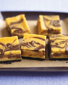 Chocolate-Pumpkin Cheesecake Bars - Recipes, Dinner Ideas, Healthy Recipes & Food Guide