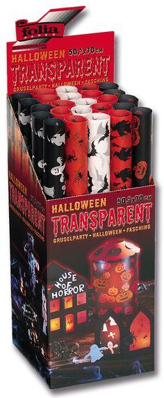 Das Halloween-Transparentpapier eignet sich super für Dekoration und Inneneinrichtung. Mehr unter http://www.folia.de/epaper/folia_hauptkatalog_2013_2014/catalog_4267386/index-sd.html#/212