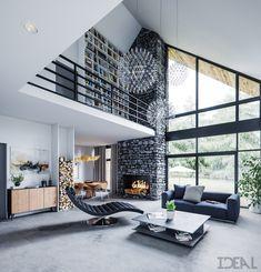 Single House XI , Poland on Behance Small House Design, Dream Home Design, Home Interior Design, Casa Loft, Modern Barn House, A Frame House, Home Fashion, Home Deco, Building A House