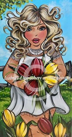 Fleurs du printemps 12x24 Plus Size Art, Isabelle, Black Women Art, Fat Women, Art For Art Sake, French Artists, Woman Painting, Big And Beautiful, Female Art