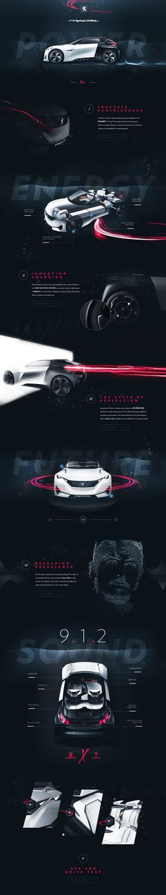 Peugeot™ Fractal - Tribute Website by Steve Fraschini