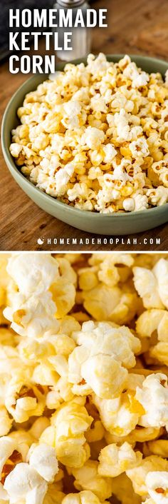 Homemade Kettle Corn Perfect For A Movie Night Or Gifting By The Bag, This Homemade Kettle Corn Will Cure All Your Sweet And Salty Food Cravings. In addition, You Can Make This Festival Favorite In Less Than 10 Minutes Appetizer Recipes, Snack Recipes, Dessert Recipes, Cooking Recipes, Appetizers, Desserts, Food Deserts, Dessert Ideas, Easy Recipes