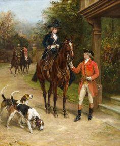 Heywood Hardy (British, 1843-1933) - A hunting morn