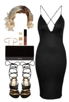"""""""Untitled #1150"""" by jackie143 ❤ liked on Polyvore featuring Topshop, Steve Madden, Balmain, NYX and Forever 21"""