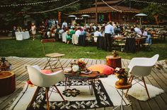 woodland lounge... we are always a fan of the outdoor wedding reception at TOAST