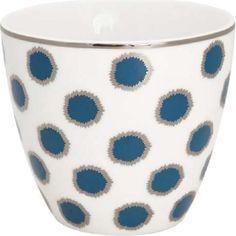 Tasse - Latte cup - Savannah blue von Greengate Latte Cups, Savannah Chat, Tableware, Green, Country, Fall, White Coffee, Marmalade, Microwave