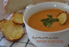 Homemade Tomato Basil Soup - casual glamorous