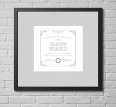 Personalised Print - Best Mother Certificate. This personalised typographic art print is a lovely gift for your mother, or for the mother of your children. It offers a fun approach by awarding a certificate of excellence for motherhood for someone who really deserves it.