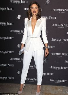 Alessandra Ambrosio in Alexandre Vauthier at Audemars Piguet opening in Beverly Hills on December 9, 2015