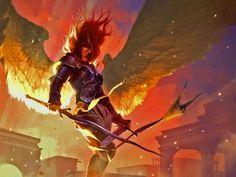 Latest MTG Art - Magic: the Gathering Art Gallery from all Sets Dark Souls, Fantasy Artwork, Magic The Gathering, Mtg Art, Fanart, Angel Warrior, Digital Art Gallery, Concept Art World, Ange Demon