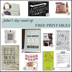 Free Father's Day Videos. Fab Free Fathers Day Printables