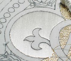 Laying Flat Silk Threads in Hand Embroidery