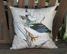 bird pillow. very cool etsy shop.