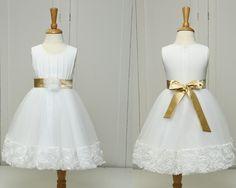 White Lace Golden Sashes Flower Girl Dresses for Weddings Vestido de Festa de Casamento Girls Pageant Dresses-in Flower Girl Dresses from Weddings & Events on Aliexpress.com | Alibaba Group