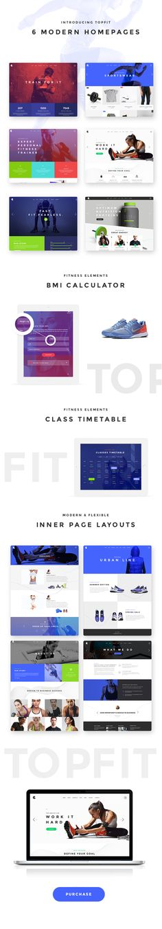 TopFit - A Modern Fitness, Gym, and Lifestyle Theme #sports #sportswear #trainer