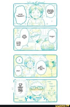 Tiny Tsukishima is so cute~! And then he went and got all jaded. :(