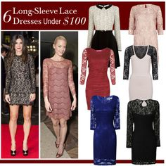 6 Long-Sleeve Lace Dresses Under $100, created by polyvore-editorial on Polyvore