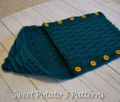 Ravelry: Button Up Waves Hooded Cocoon pattern by Christins from My Sweet Potato 3