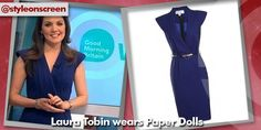 Want to know where Laura Tobin got her dress from on Good Morning Britain? Style on Screen can tell you! Good Morning Britain, Wrap Dress, Dresses For Work, How To Wear, Style, Fashion, Swag, Moda, Fashion Styles