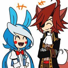 Toy Bonnie and Foxy