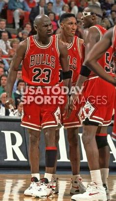 Michael Jordan, Scottie Pippen and Horace Grant