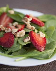 Clean Eating Strawberry Spinach Salad