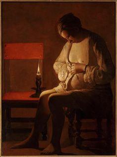 Georges de La Tour 'La Femme à la puce'