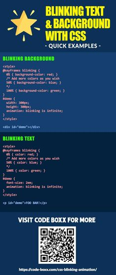 How to Do Blinking Animation With Pure CSS (Text & Background) - Code Boxx E Learning, Learn Html, Learn To Code, Development Life Cycle, Software Development, Design Websites, Computer Programming, Computer Science, Computer Coding