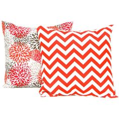 Pair of Two Outdoor Pillow Covers Orange Pillow Salmon Orange Chevron... ($12) ❤ liked on Polyvore featuring home, outdoors, outdoor decor, decorative pillows, home & living, home décor, light pink, outdoor patio decor, outdoor accent pillows and indoor outdoor throw pillows