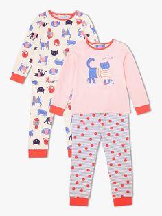 John Lewis   Partners Girls  Cat Print Pyjamas 3ad06539f